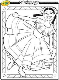 Hispanic Heritage Coloring Pages Cinco De Mayo Coloring Page Dance Coloring Pages Flag