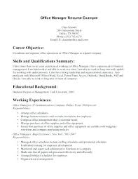 Medical Office Manager Cover Letter Sample Cover Letter For Office Manager Sample Cover Letter For