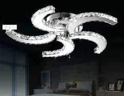 modern crystal ceiling fan lights restaurant household electric