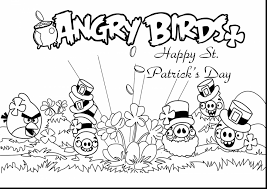 Small Picture excellent angry birds st patricks day coloring pages with st