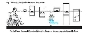 ada bathroom accessories heights. barrier free mounting heights. bobrick products meet these requirements. look for the ada compliant symbol next to in our catalogs. | pinterest ada bathroom accessories heights h