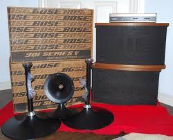 bose 901 series v. bose 901 series v speakers ~ stands active equalizer original boxes!