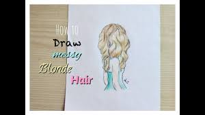 How I Draw Messy Blonde Hair Ehitsami