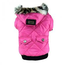 faux fur hooded parka jacket for dogs