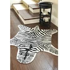 idea faux animal skin rugs and design black white faux zebra hide 71 faux animal skin