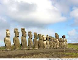the tongariki ahu with its 15 imposing moai statues is the island s largest and