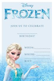 elsa birthday invitations free frozen invitation frozen party invitations frozen party and