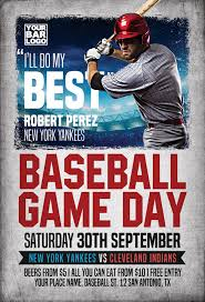 Free Baseball Flyer Template Baseball Game Day Flyer Template Flyer For Club And Party