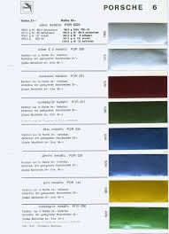 Original Colour Codes For Your 911 Butzi Squared