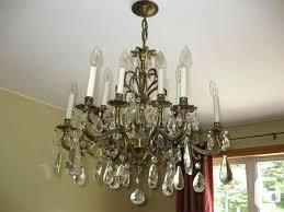 crystal chandelier brass vintage brass crystal chandelier for in phoebe 48 round crystal chandelier antique