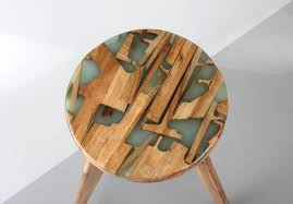 environmentally friendly furniture. Made From Offcuts Cured In Resin. Environmentally Friendly Furniture