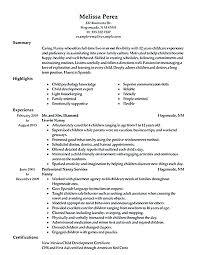 Nanny Resume Examples Sample Nanny Resume Nanny Resume Example Nanny ...