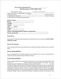 Lease Contract Sample Example Of Horse Breeding Lease Contract 2139 Ocweb
