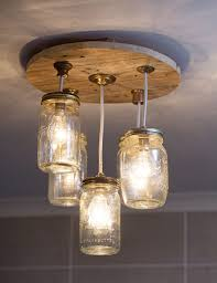 diy mason jar chandelier sa cheerful