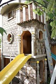 kids tree houses with slides. Here\u0027s A Castle Themed Tree House With Two Slides. Kids Houses Slides T