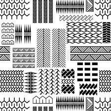 Mayan Patterns Adorable Black And White Mayan Embroidery Seamless Vector Pattern Monochrome