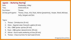 Make An Agenda How To Make An Agenda For A Meeting Wetenschap Dating 21