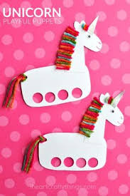 incredibly cute and playful unicorn puppets unicorn craftscrafts to makecrafts for kids