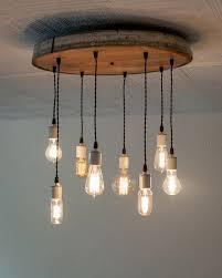recycled lighting fixtures. Wine Barrel Light Fixtures Lovely Candil De Focos Y Madera DIY Home Decor Pinterest Barrels Design Recycled Lighting