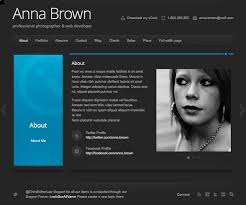 Free Resume Website Templates 20 Best Free Html Resume Templates By