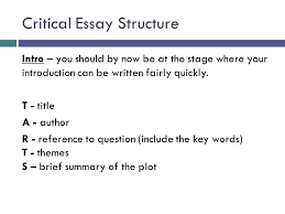 critical essay structure ppt video online critical essay structure