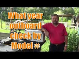 Evinrude Year By Model Number