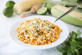 In a small saucepan, combine the garlic, chilies, sugar, vinegar, ½ cup water and ½ teaspoon salt. Mexican Street Corn Salad Esquites