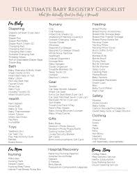 baby item checklist 10 printable baby registry checklist proposal sample