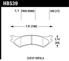 Hawk Performance Hb539y 650 Disc Brake Pad Products
