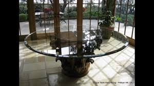 scratched glass table glass resurfaced polished newport beach ca