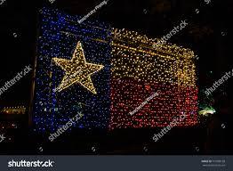 Red White And Blue Christmas Lights Texas Flag Illuminated Christmas Lights Just Stock Photo