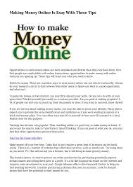 Making Money Online Is Esay With These Tips