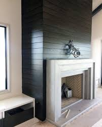 black concrete fireplace design board formed with mantel