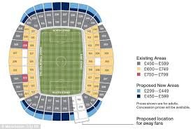 Etihad Stadium Manchester Seating Chart Manchester City Unveil New Drawings For 61 000 Seat Etihad