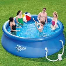 above ground inflatable pool. Delighful Above Summer Escapes 12u0027 X 30 To Above Ground Inflatable Pool A