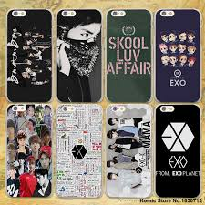 Exo Kpop band BTS boys hard clear Cases cover for Apple iPhone 7 6