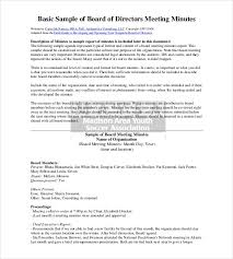 board of directors minutes of meeting template sample corporate minutes template free download the best letter