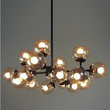 glass ball ceiling light luxury modern chandelier lobby bar pendant undefined flush