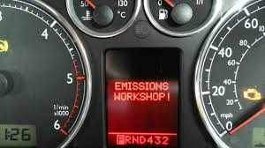 Golf Emissions Light Emission Warning Emissions Control Lamp Engine Engine