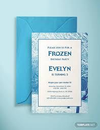 Free 16 Frozen Birthday Invitation Designs Examples In