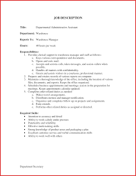 Administrative Assistant Job Description Resume Awesome Administrative assistant Job Description personal leave 12