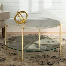 modern round coffee table white