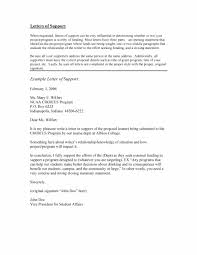 Letter Of Support Sample 24 Proven Letter Of Support Templates [Financial For Grant] 1