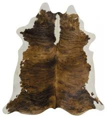 brown brindle cowhide rug 5 x7 contemporary novelty rugs by bonanza leathers