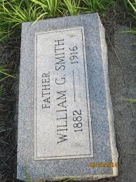 "Gravestone for William G. Smith B. 1882, D. 1916. He was the husband of  Efflyn ""Effie"" Ferguson Smith. They had two ch… 