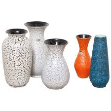 group of modernist jasba craquelé ceramic vases for sale at stdibs