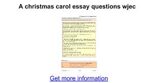 a christmas carol essay questions wjec google docs