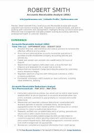 Accounts Receivable Analyst Resume Samples QwikResume Magnificent Accounts Receivable Resume