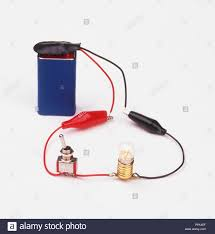 Light A Bulb With One Wire Circuit Bulb Battery Stock Photos Circuit Bulb Battery