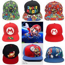 <b>Handmade New</b> Super Mario Cosplay Props <b>Baseball Hat</b> Mario ...